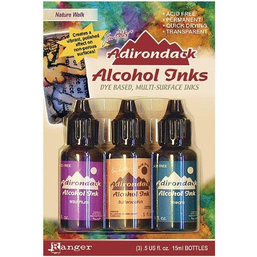 (Ranger Adirondack Alcohol Ink .5 Ounce 3/Pkg-Nature Walk-Wild Plum/Buttrscotch/Stream)