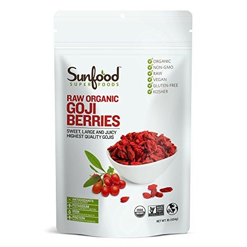 Sunfood Goji Berries 1 Pound, Organic