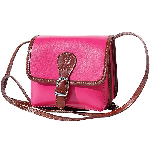 225 BAG LEATHER brown SHOULDER LADY Pink xqPAt
