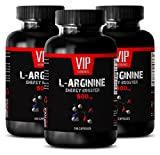 Arginine men - L-ARGININE Energy Booster 500 mg - Fitness supplements - 3 Bottles 300 Capsules