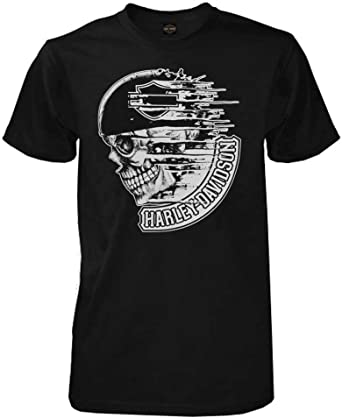 American Speed Skeleton Biker short sleeve men/'s black tee shirt