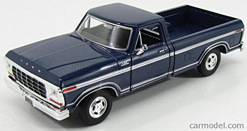 1979 Ford F-150 Pickup Truck Blue 1/24 Diecast Model Car by Motormax