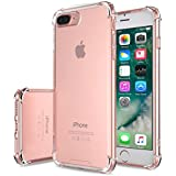 iPhone 7 Plus Case - MoKo Advanced Shock-absorbent Scratch-resistant Cover Case with Transparent Hard PC Back...