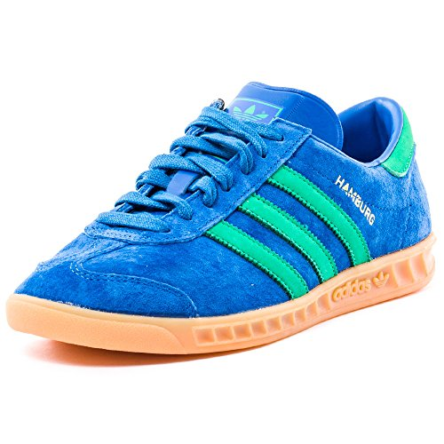 adidas Men Hamburg Trainers, Grey Blau