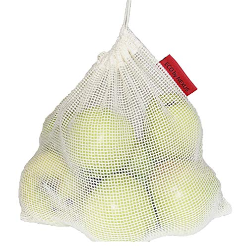 Reusable Produce Bags ECO by NEXUS, Set of 11 - Washable Mesh Grocery Bags for Shopping, Storage and Organization - Tare Weight Labels and Drawstring Closure - 100% Cotton, Plastic-Free Packaging by ECO by NEXUS (Image #5)