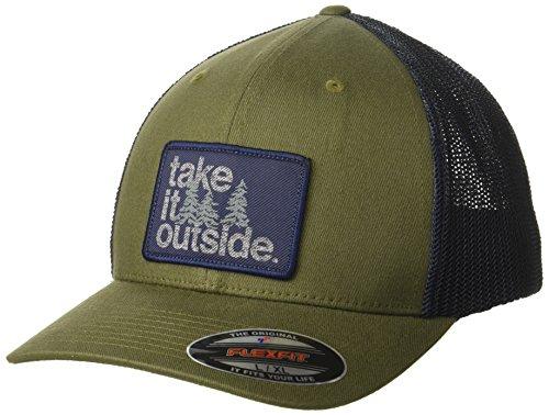 ac1be0fb5 Columbia Men's Trail Ethos Mesh Hat, Nori, Take it Outside, L/XL