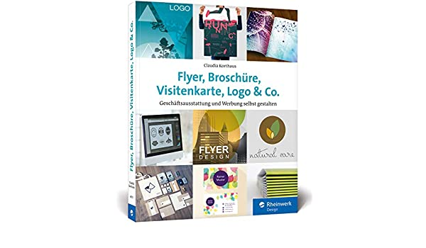 Flyer Broschüre Visitenkarte Logo Co Werbemittel Und