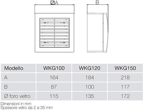 8 W QD100 Aerauliqa Achsensauger Durchmesser 99 mm 83 m3//h Code 001599