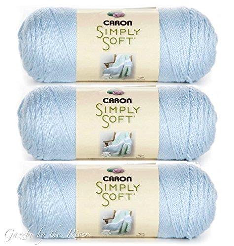 Caron Simply Soft 100% Acrylic Yarn ~ SOFT BLUE # 9712 ~ 6