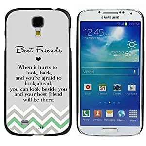 LZX Milocos ? Best Friends Friendship Quote Chevron Hard Back Case for Samsuang Galaxy S4 9500