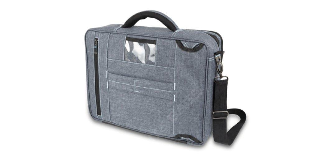 Maletín de asistencia domiciliaria   Modelo STREETS   Elite Bags   Medidas: 40 x 30 x 16 cm   Colores: negro y gris   Diseño moderno y práctico: Amazon.es: ...