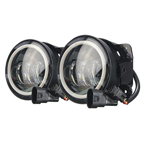 HITSAN 4inch 60W LED Amber Headlight Auxiliary Passing Light For Harley Jeep Wrangler One Piece
