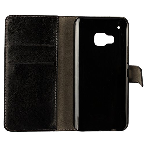 M9 Funda,COOLKE Retro PU Leather Wallet With Card Pouch Stand de protección Funda Carcasa Cuero Tapa Case Cover para HTC One M9 - Rosa Claro Azul