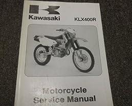 2003 kawasaki klx400r klx 400 r service repair shop manual oem 03 rh amazon com 2003 kawasaki klx 400 service manual 2003 kawasaki klx 400 service manual
