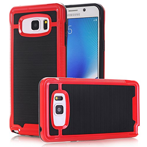 Anti-knock Shockproof Armor Case for Samsung Galaxy Note 5 Red - 6