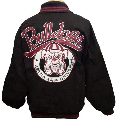 New! Alabama A&M University Zip- Up Embroidered Jacket Size L