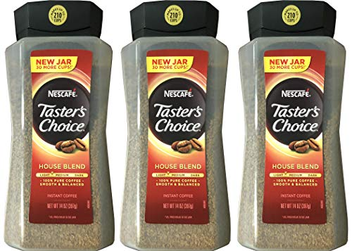 Taster's Choice Original Gourmet Instant Coffee 14 Oz, Pack of 3