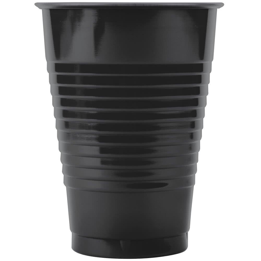 28134081B 16 oz. Black Velvet Plastic Cup - 600/Case By TableTop King