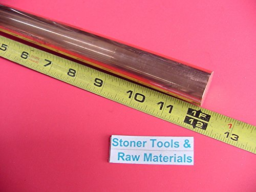 """2 Pieces 3//4/"""" C110 COPPER ROUND ROD 10/"""" long H04 Solid CU New Lathe Bar Stock"""