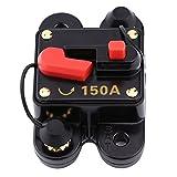 Fuse Circuit Breaker, 12V DC Circuit Breaker Trolling Motor Auto Car Marine Boat Bike Stereo Audio Inline Fuse Inverter Audio Reset (150A)