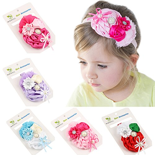 ROEWELL Cute Baby Girl Headbands Newborn Hair Bows Toddler Chiffon Hair Bows (5 - Usps Package Number Class First Tracking