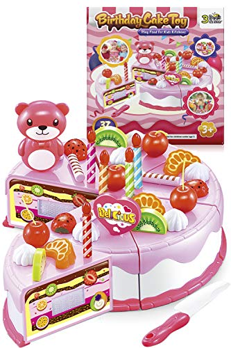 3 Bees & Me Birthday Cake Toy Kit for 3, 4 and 5 Year Old Girls & Boys - Play Food for Kids