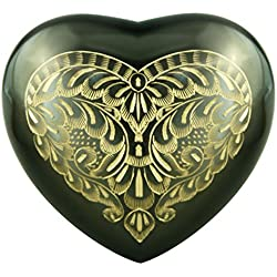 Heart Model by Meilinxu- Pet Urns for Dogs Ashes or Cremation Cat Urns for Ashes- Hand Made in Brass and Hand Engraved -Attractive Display Burial Urn - Cat / Dog Memorial (Majestic Radiance, Baby Urn