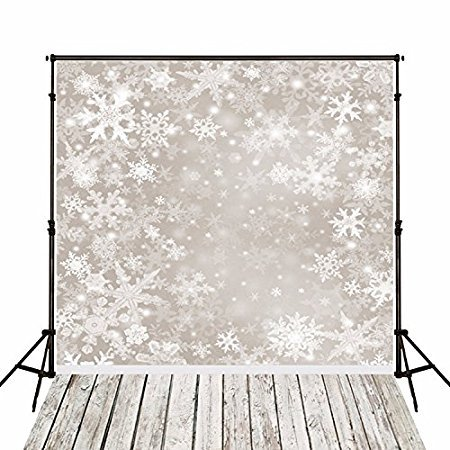 3x5ft Vinyl Christmas White Winter Snow Wood Photography Studio Backdrop Prop Background