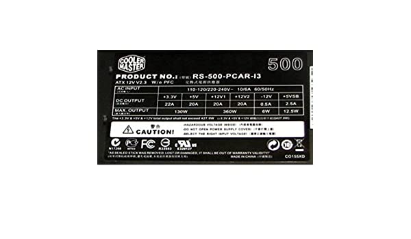 500W Cooler Master Extreme Power Plus 20+4pin ATX Power Supply RS-500-PCAR-I3 Consumer Electronics