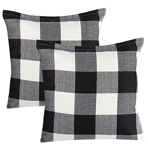 Check Out This Steven.Smith 2 Pack Christmas Red White Buffalo Checkers Plaids Throw Pillow Cover Xm...