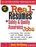 Real-Resumes for Safety and Quality Assurance Jobs, Anne McKinney, 1475099797
