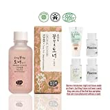 Whamisa [ Skin Care Kit ] Organic Flowers Deep Rich Essence Toner 120ml / Double Rich Lotion 20ml / Cleansing Foam 20ml and 2 more Organic Natural Random Miniatures - Naturally fermented, EWG Verified