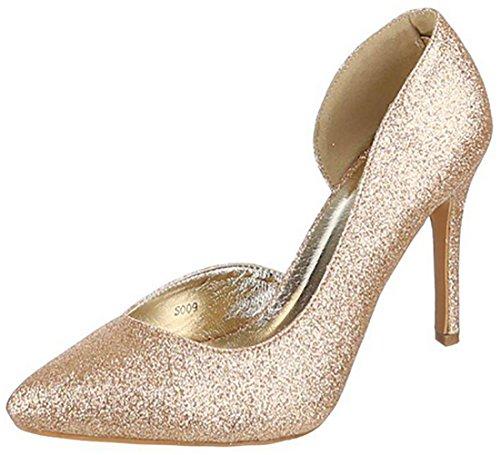 Oro donna scarpe eleganti alto alte scarpe lurex Scarpe tacco scarpe scarpe donna MYWY HgURwT