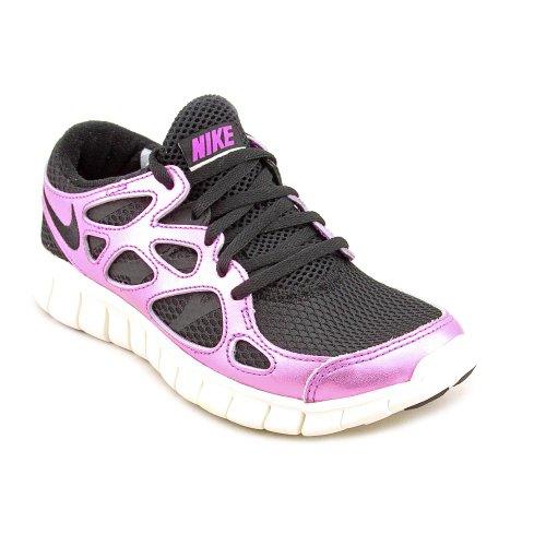 Nike Donne Free Run + 2 Premium - Nero / Nero-laser Viola-vela, 9 B Noi