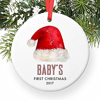 rustic christmas decorations for tree babys first gender neutral santa hat babys 1st christmas unisex baby - Christmas Themed Baby Shower