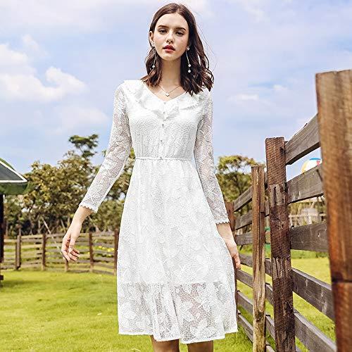 e donna casual per beachwear da ragazze bianco da da inverno TSNMNB sera Abiti prom abito autunno ballo adolescenti nwEU86xIRq