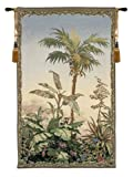 Tapestry, Extra Large, Tall - Elegant, Fine, French & Wall Hanging - Palmier (Palm Tree), H82xW50