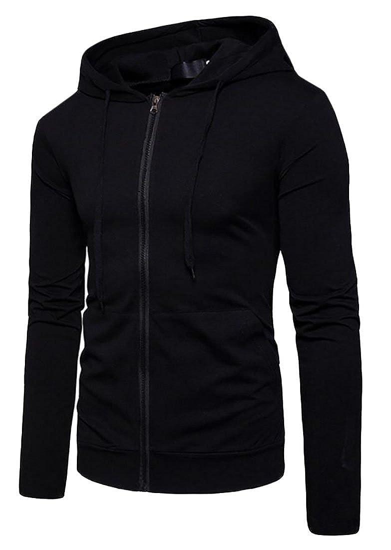 S-Fly Mens Casual Front-Zip Hoodies Hooded Long Sleeve Sweatshirt Jackets