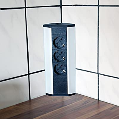 Mesa enchufe 3 aluminio esquina enchufe Cocina enchufe regleta ...