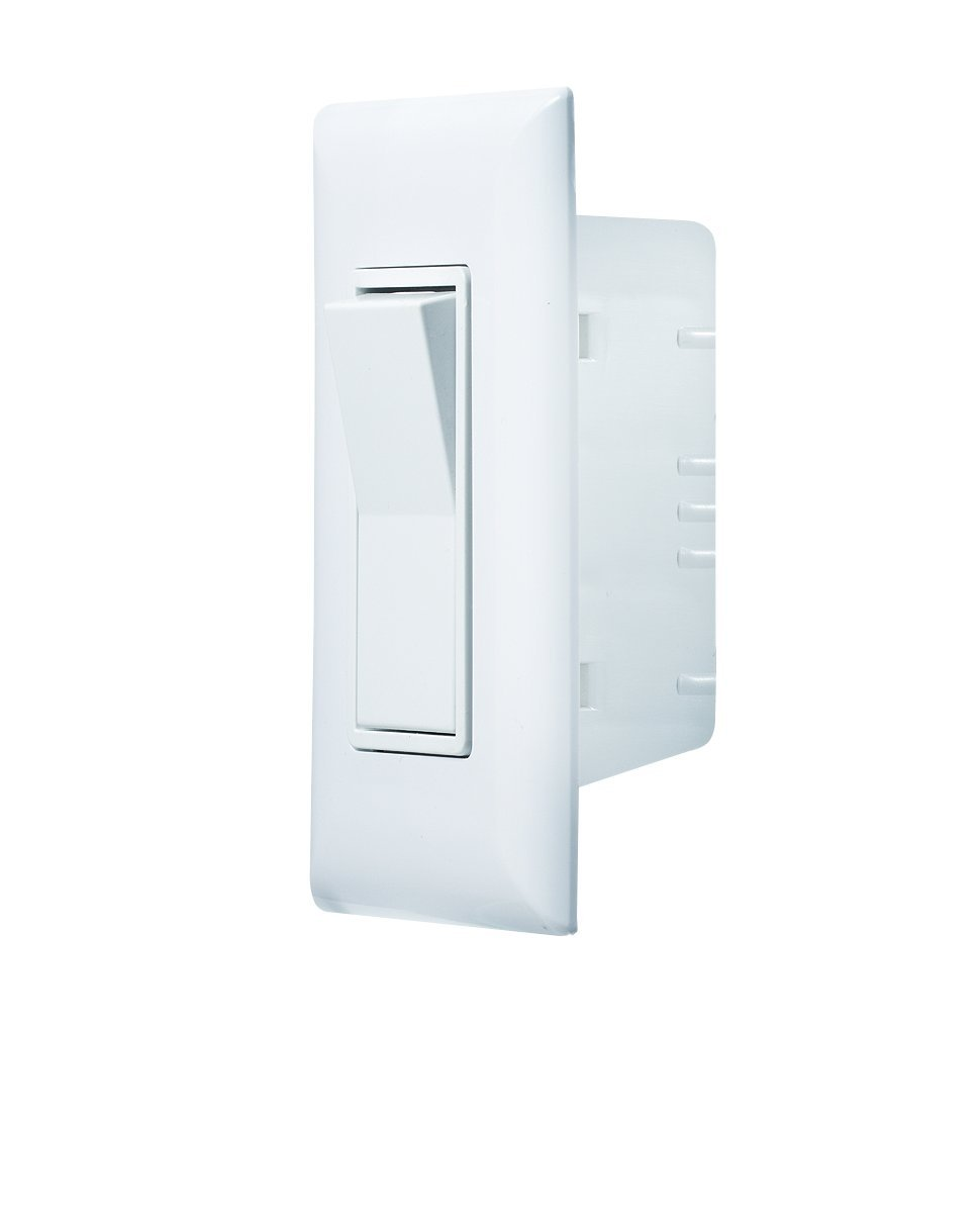 RV Designer S841, Self Contained Contemporary Touch Switch with Cover Plate, Speedwire, White