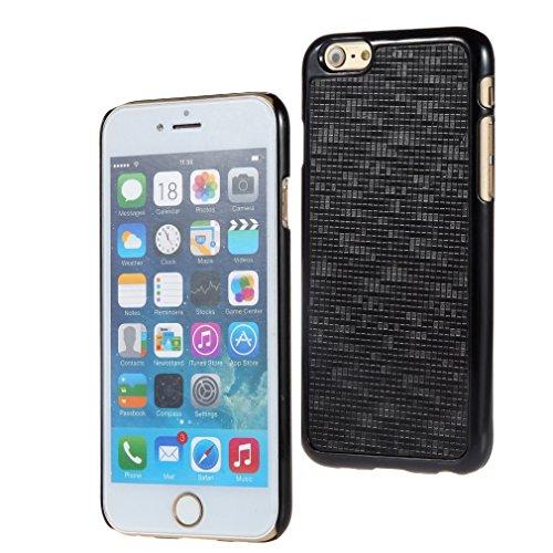 Bralexx 7123Schwarz-7125Schwarz-Karo Smartphone Case passend für Apple iPhone 6 11,9 cm (4,7 Zoll) schwarz