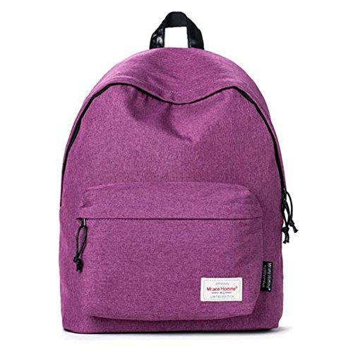 À Purple Voyager Dos Couleur Imperméable Sac Gray QIDI Toile 4wq54B1