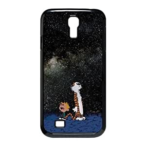 Samsung Galaxy S4 I9500 Phone Case Black Calvin and Hobbes Starry Night ESTY7912287