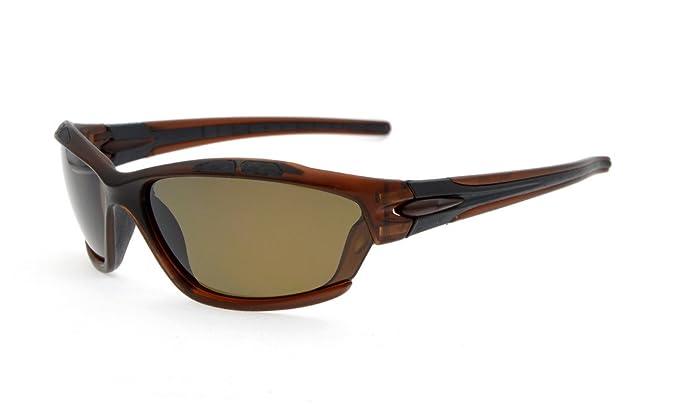 Eyekepper Polycarbonat-polarisierte Sport-Sonnenbrille für Jugendliche Baseball Laufen Angeln Fahren Golf Softball Wandern TR90 Unbreakable Grey Frame Gold Mirror rLfXzt