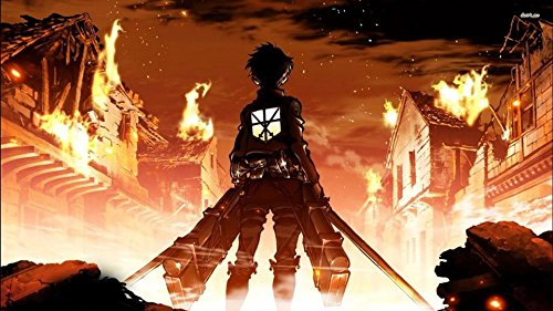 (Attack on Titan Into the Fireplaymat by HiddenSupplies.com)