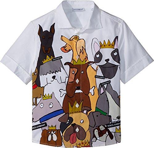 Dolce & Gabbana Kids Baby Boy's Short Sleeve Shirt (Toddler/Little Kids) White Print 2T (Toddler) by Dolce & Gabbana (Image #2)