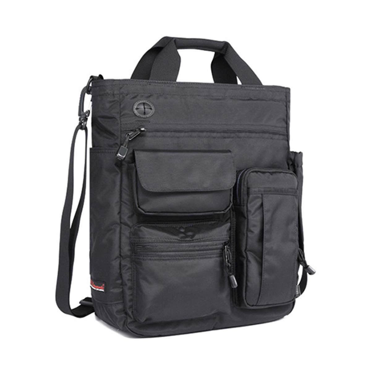 JOSEKO Multifunction Mens Military Tactical Shoulder Bag, Nylon Laptop Messenger Bag fit for 13'' IPad Black 7.87''x 1.15''x 5.91''(L x W x H)
