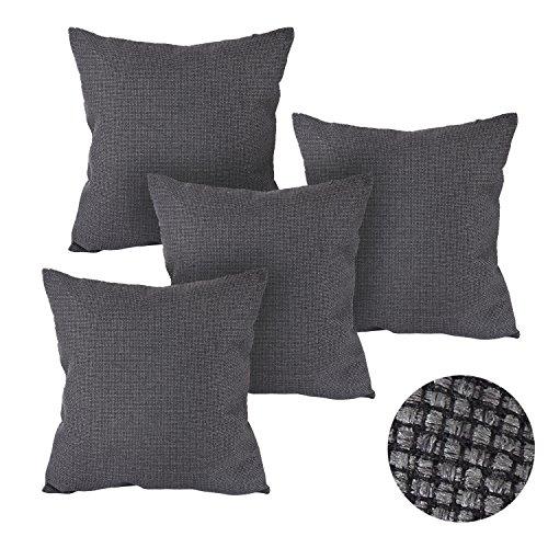 Deconovo Pillow Case Covers With Zipper Grey 18x18 Pillow Co