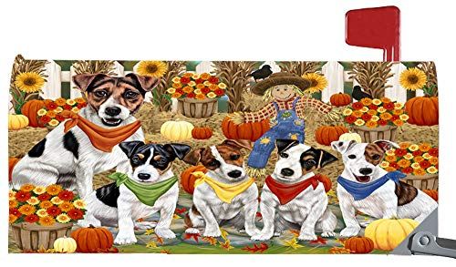 Magnetic Mailbox Cover Harvest Time Festival Day Jack Russells Dog MBC48050