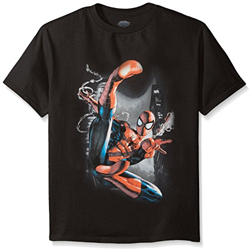 Marvel Boys' Captain America, Spiderman or Avengers T-Shirt, Web Spiderman, Medium-8/10